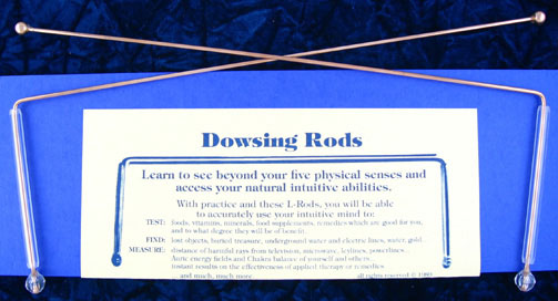 Catalogs: dowsing rods,L-rods,brass L-rods,copper dowsing rods,divining rods,divination tools,dowsing tools.